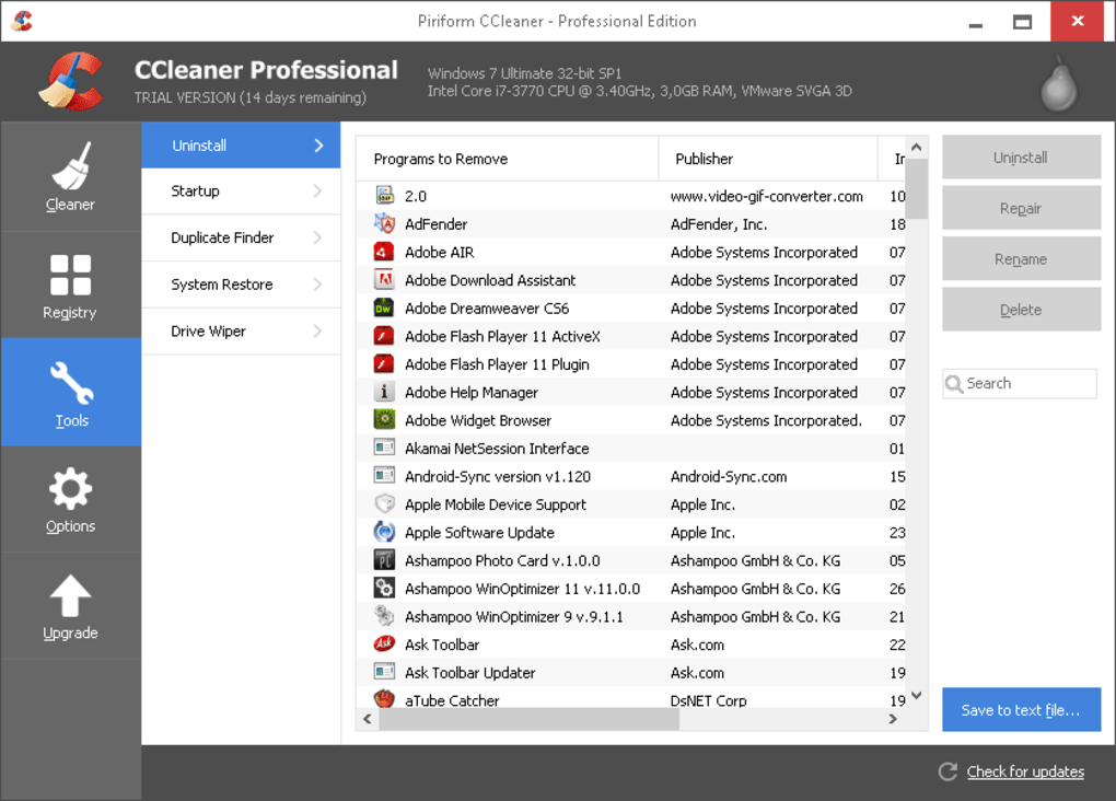 CCleaner Professional Key 5.75.8238 With Crack
