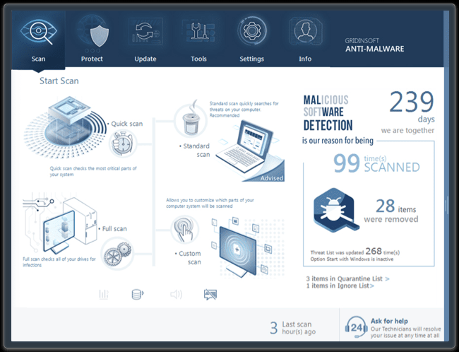 GridinSoft Anti-Malware 4.1.74.5128 Crack Free Download