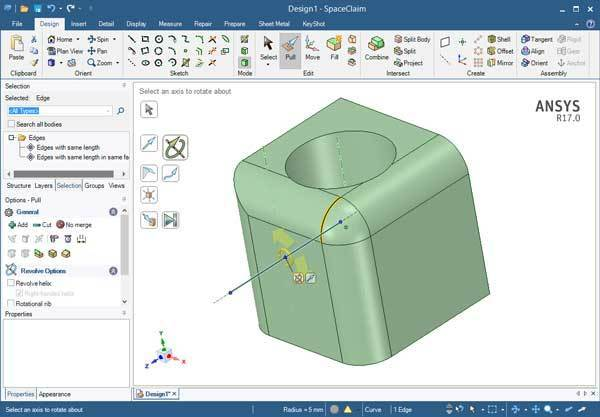 ANSYS SpaceClaim 2021 Crack Free Download